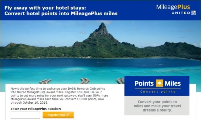 United IHG September 2016 promotion