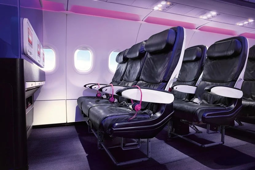 Pick Main Cabin Select seats for free with Virgin America Gold status. Image courtesy of Virgin America.