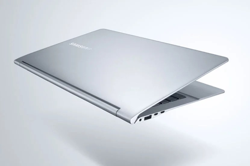The Samsung Notebook 9 doesn't weigh much more than a tablet at just 1.9 lbs. Image courtesy of Samsung.