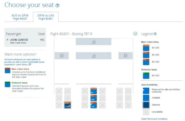 I was able to select from the remaining premium economy seats for free.