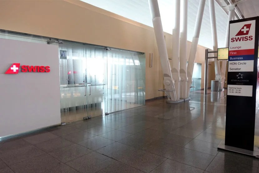 The exterior of the Swiss Star Alliance Gold/Business Lounge.