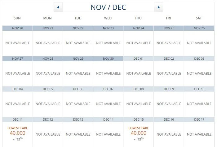 The same Garuda Indonsia route is sparsely-available this holiday season.