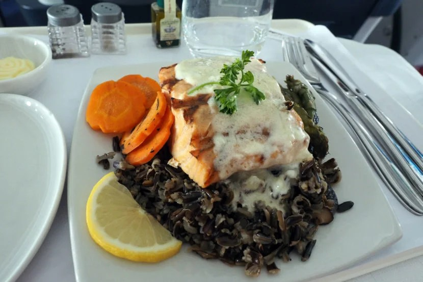 The salmon was probably the best of the three options we tried.