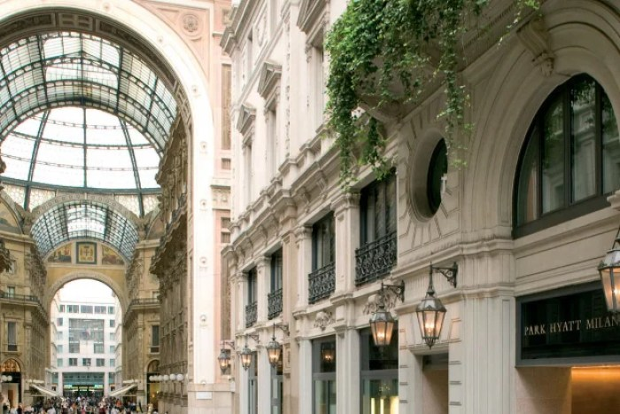 The Park Hyatt Milan sits in the heart of the city.
