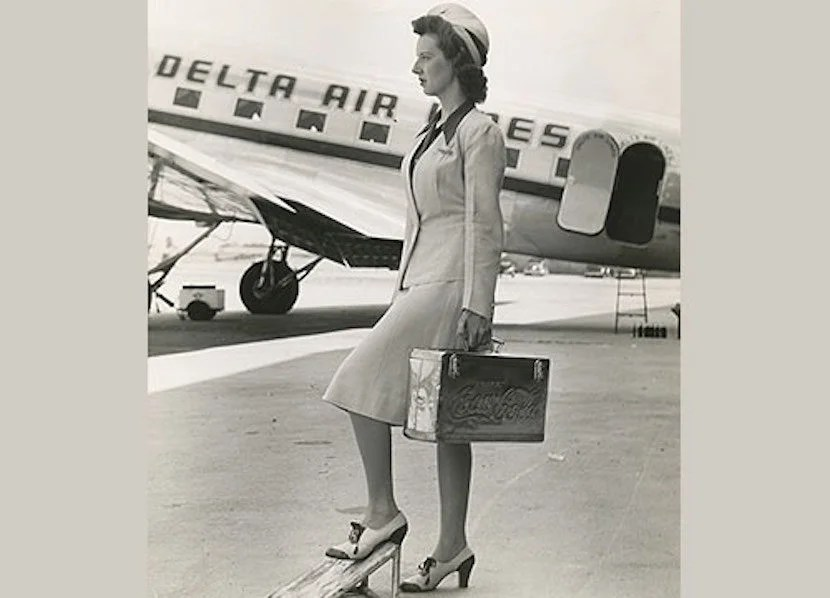 Standing at attention, in a great pair of shoes. Image courtesy of Delta Flight Museum.