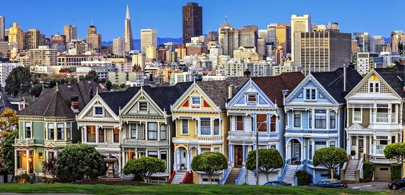 The Painted Ladies in San Francisco, California. Image courtesy of Shutterstock.