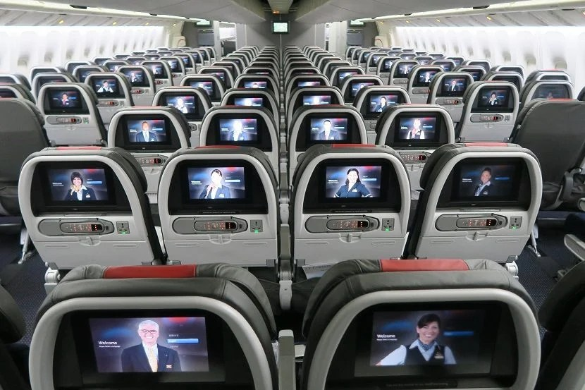 American Airlines installed its top-notch in-flight entertainment system on this aircraft.