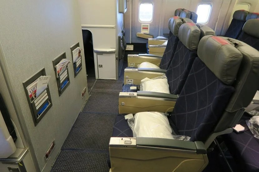 Row 20 is the bulkhead row for the back economy cabin.
