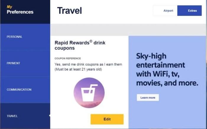 Southwest drink coupon settlement
