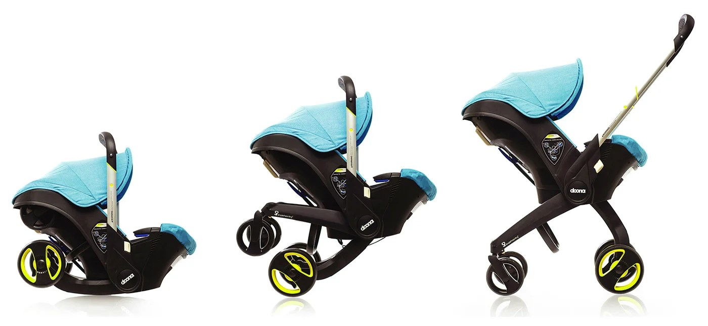 Newborn In Pram Seat Meet The Car Seat That Converts Into A Stroller In Seconds