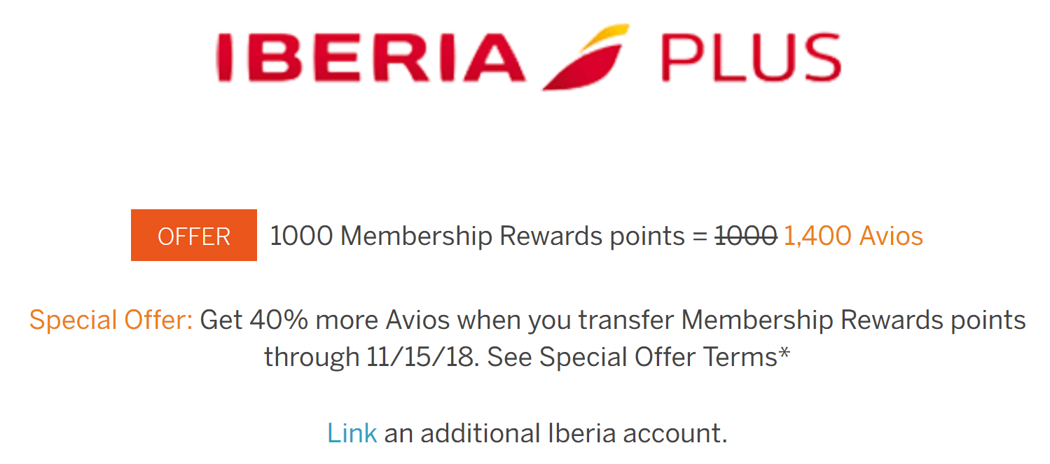 Miles And More Iberia 40 Bonus For Transferring Amex Membership Rewards To Avios