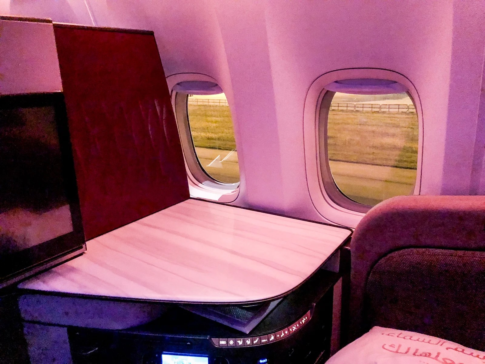 Black Point System In Qatar Review Qatar Airways 777 300er Qsuite From Hkg To Doh