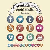 Hand Illustrated Social Media Icons | The Postman's Knock