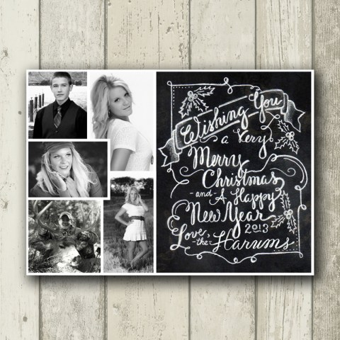 Custom Chalkboard Holiday Photo Card | The Postman's Knock