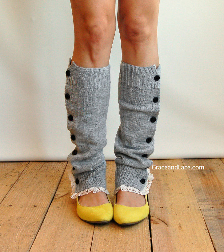 Button Down Leg Warmers | The Postman's Knock