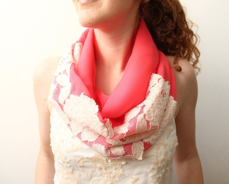 Lace Infinity Scarf  | The Postman's Knock