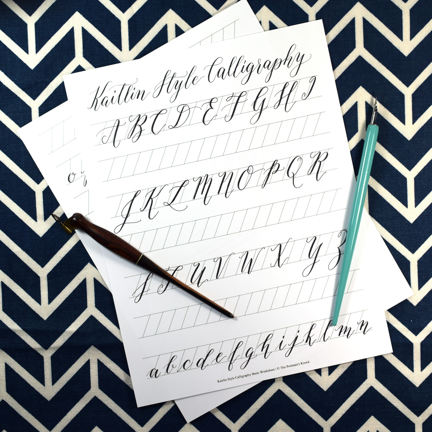 Calligraphy Online Printable Calligraphy Exemplar Kaitlin Style