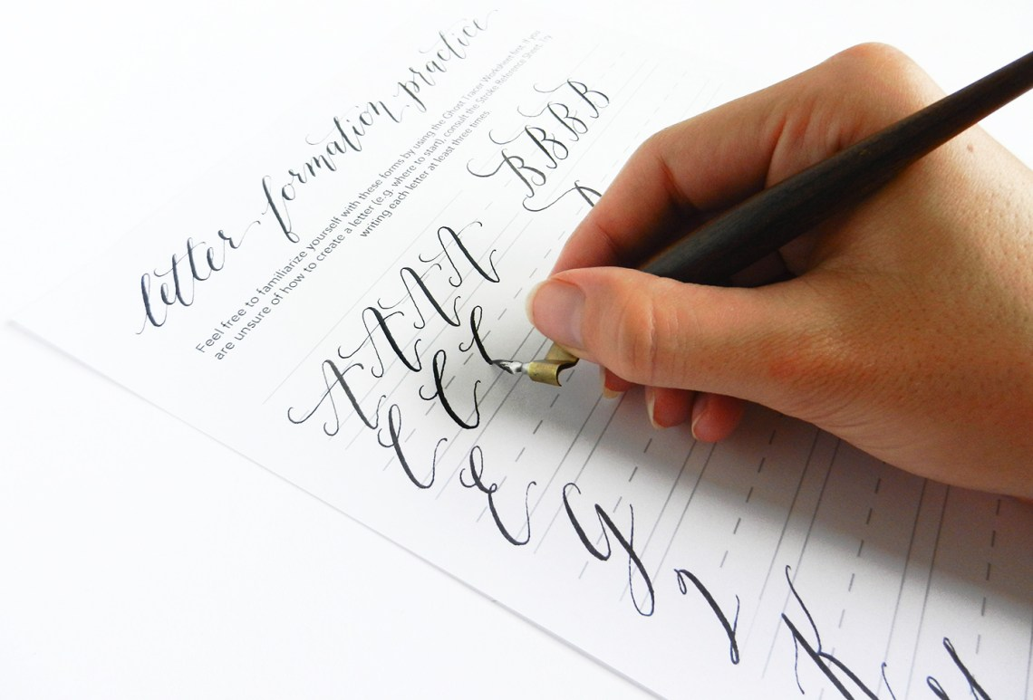 Каллиграфический почерк научиться самостоятельно