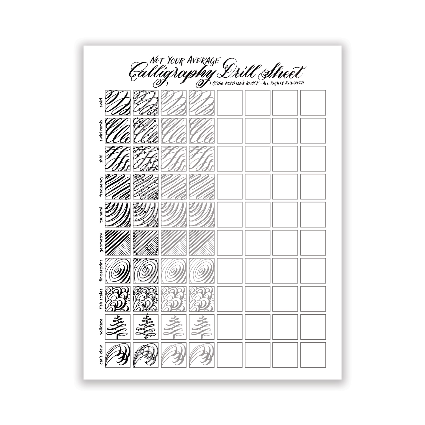 Calligraphy Templates Online Printable