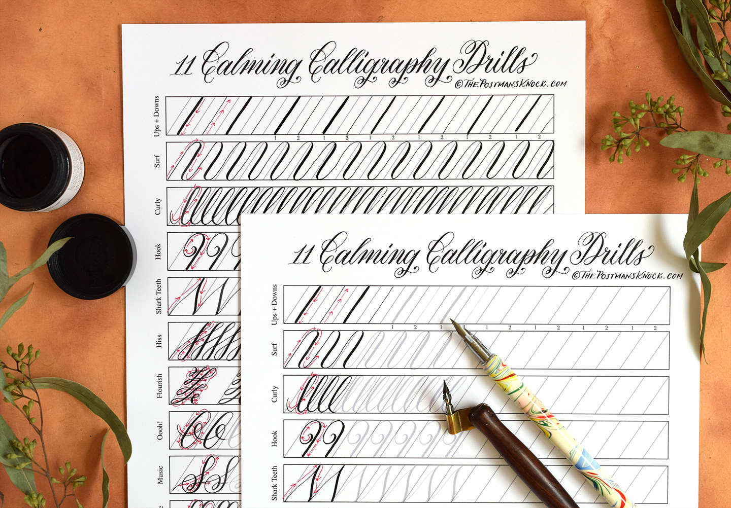 Modern Calligraphy Online Generator 11 Calming Calligraphy Drills Printable Free Download The