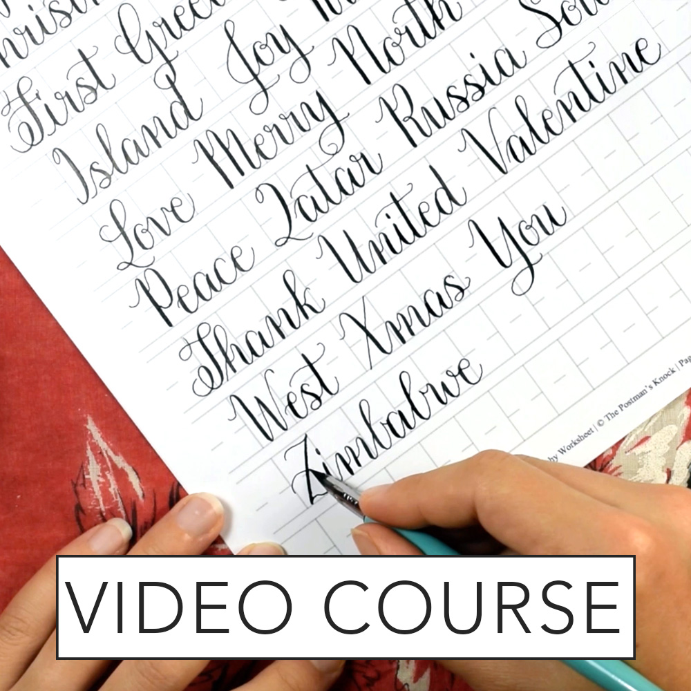 Calligraphy Online Amy Style Calligraphy Video Course