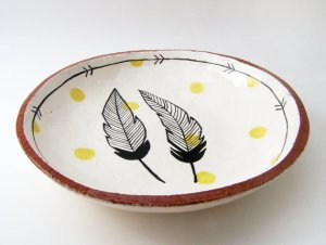 Susan Simonini Feather Bowl