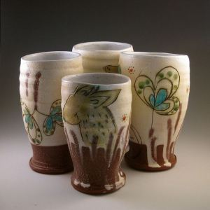 Maria Dondero Set of 4 Tumblers