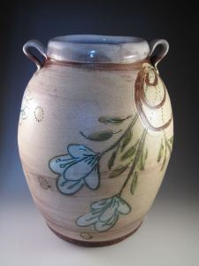 Maria Dondero Whit Flower Large Jar