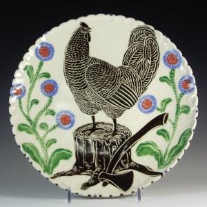 Sue Tirrell Chicken and Stump Dinner Plate