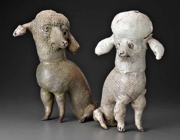 Susan Halls 2 Poodles