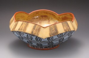 Amy Sanders lobed bowl yellow