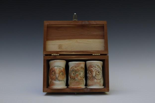 Marian Haigh 3 Owl Whisky Shots