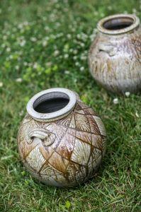 Alex Matisse Pot on Lawn