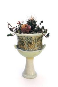 Jessica Kanaley Cosmic Pedestal Planter