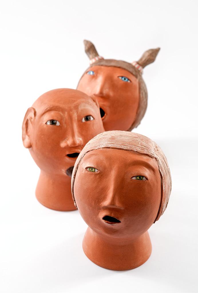 Alison Smiles head vases