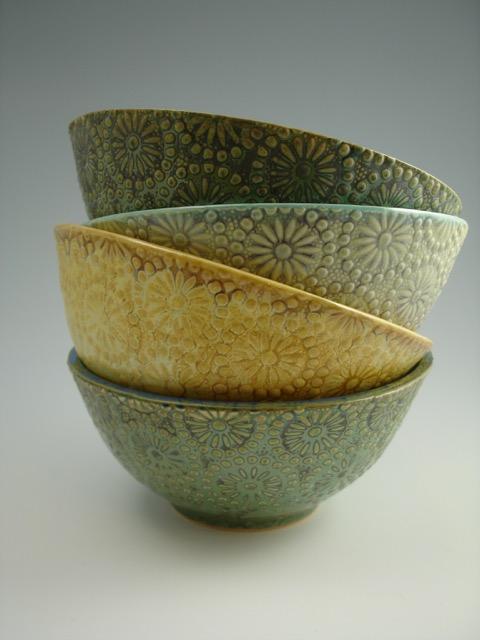 Annie Chrietzberg flower print bowls