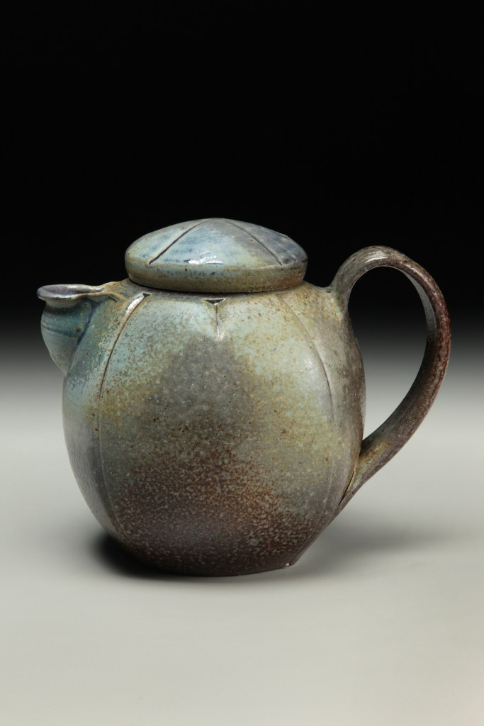 David Voorhees Stoneware Paddled Teapot