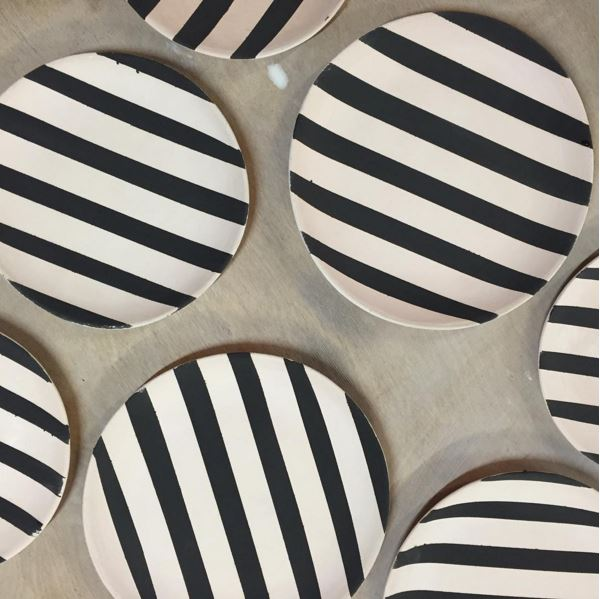 Stine Dulong Striped Plates