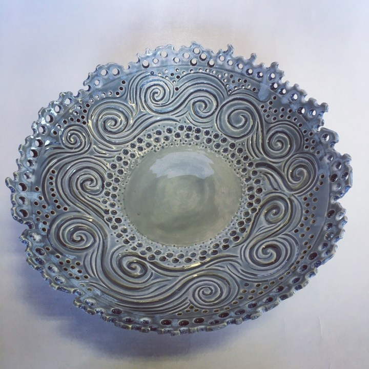 Kim Press Serving Bowl with Holes