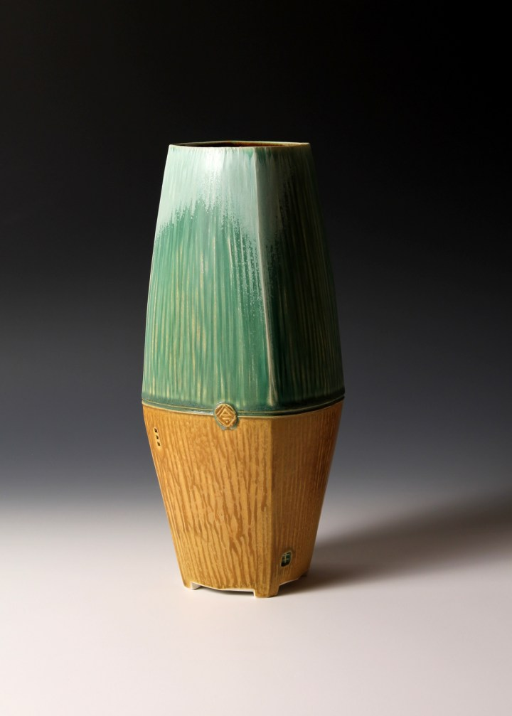 Nick DeVries two tone vase