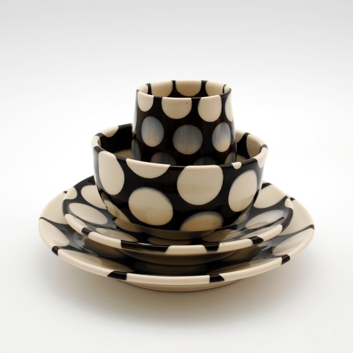 Rachel Donner blackwhite place setting