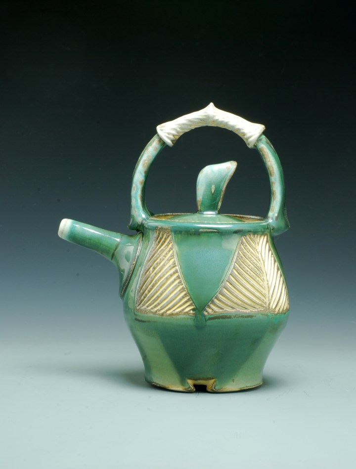 Joy Tanner Carved Teapot