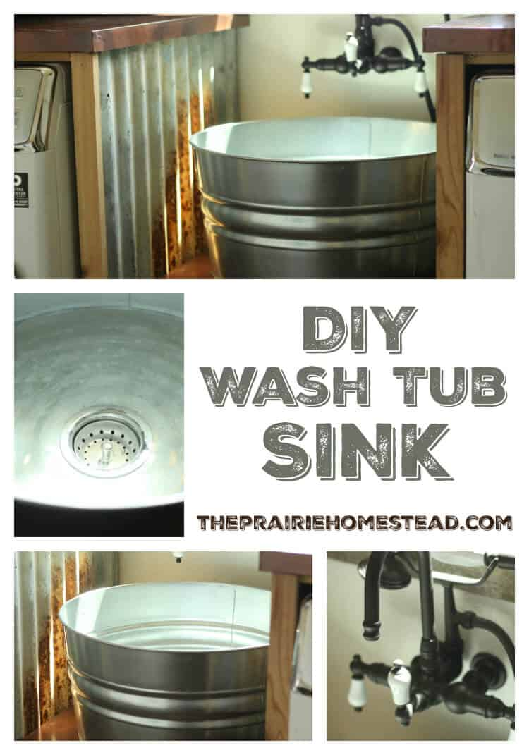 Metal Wash Bin Diy Galvanized Tub Sink The Prairie Homestead