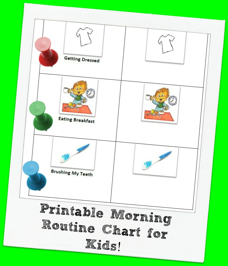morning routine chart template