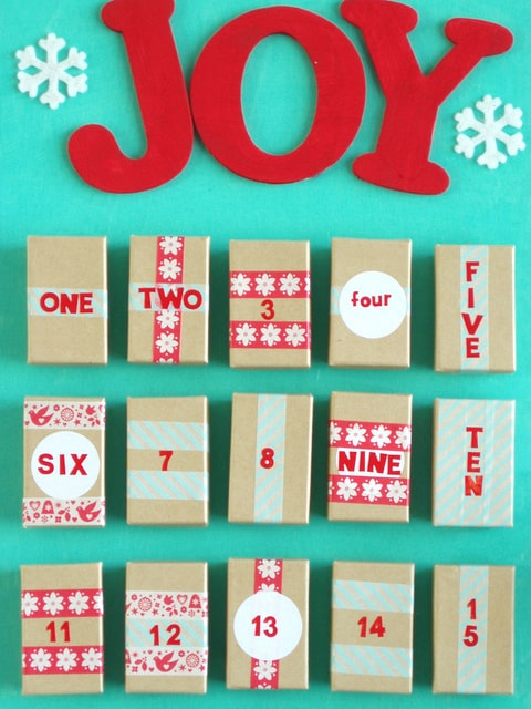 how to make your own advent calendar with boxes