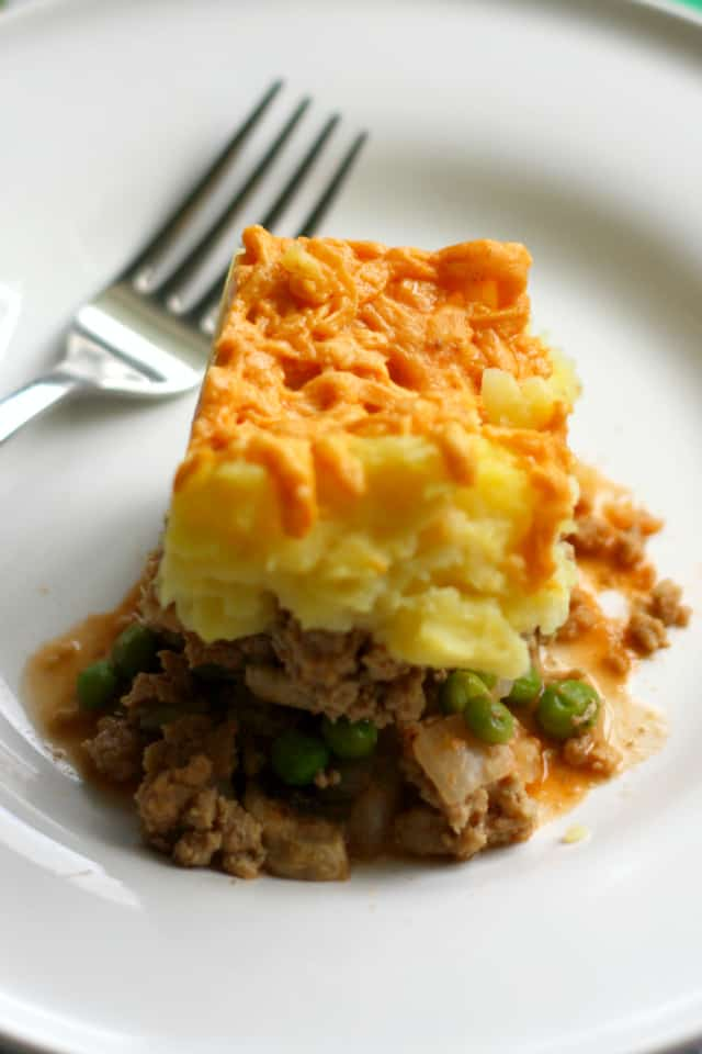 A healthier version of this comforting classic - turkey shepherd's pie is a wonderful, comforting meal for chilly days! Dairy free and gluten free.