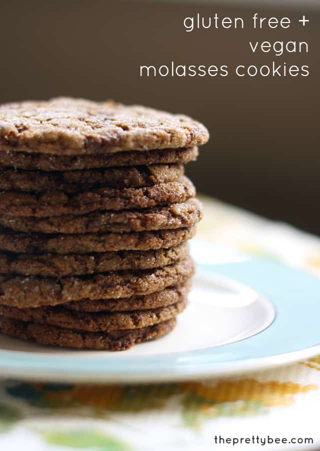Gluten Free and Vegan Molasses Cookies. - The Pretty Bee