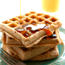 Vegan Light and Fluffy Cinnamon Sugar Waffles