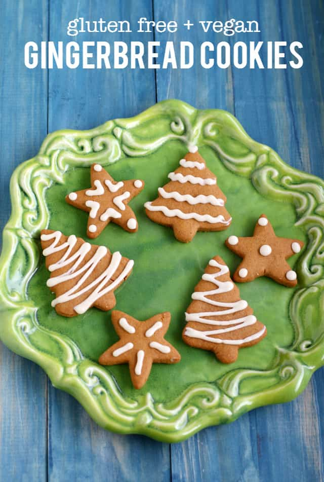 An old fashioned holiday treat - these iced gingerbread cookies are perfect for your cookie party! #sponsored