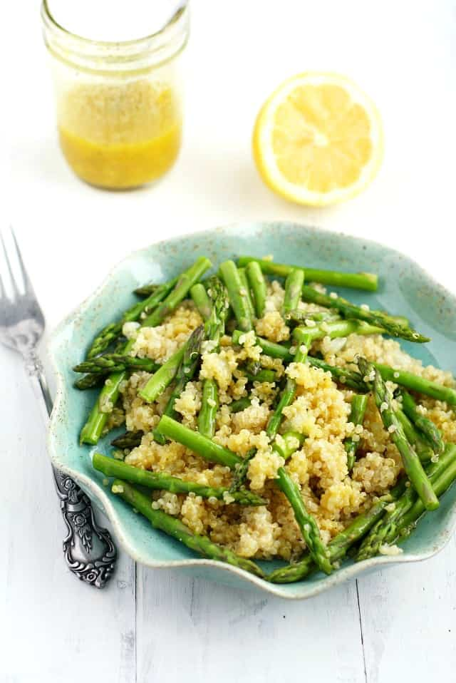 Asparagus Quinoa Salad with Lemon Mustard Vinaigrette. - The Pretty ...